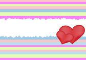 Retro heart background — Stock Vector