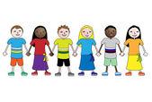 Dzieci. związek — Wektor stockowy