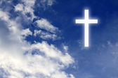 Religion. Christian cross in the sky — Foto Stock