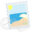 Postage stamp - Vacation — Stock Vector