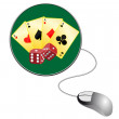 Gamble online — Stock Vector