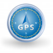 GPS Compass — Stock Vector