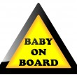 Stock Vector: Baby on board sign