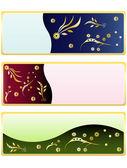 Banderas florales — Vector de stock