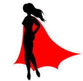Super heroine — Stock Vector