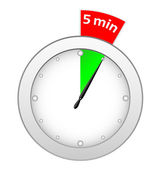 Timer 5 minutes — Stock Vector