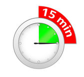 Timer 15 minutes — Stock Vector