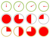 Minutes, seconds, hours timer — Stock Vector