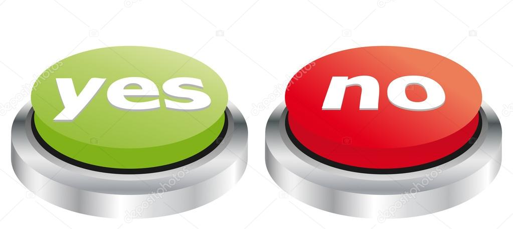 Yes and no buttons — Stock Vector © EugenP #35895175