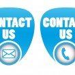 Contact icons for web — Stock Vector