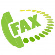 Fax icon. — Stock Vector