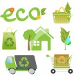 Environment friendly concept icons for website. — Stock Vector