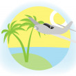 Stock Vector: Vacation sign