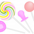 Stock Vector: Lollipop candy