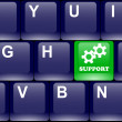 Support button on the keyboard — Stock Vector