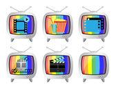 TV icon set — Stock Vector