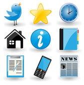 Social media iconen. — Stockvector