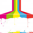 Multicolor paint — Vector de stock #36073543