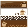 Coffee banner — Stock Vector