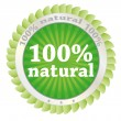 100 percent natural — Stock Vector