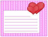 Valentine theme - card — Stock Vector