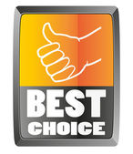 Best choice sign — Stock Vector