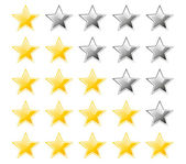 Set of rating stars — Stock Vector