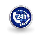24 hours support icon — Stock Vector