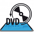 Stock Vector: Dvd icon