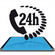 24 hour service icon — Grafika wektorowa
