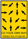 Go your own way — 图库照片