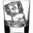 Icecubes in glass — Stock Photo
