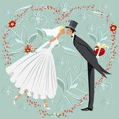 Wedding invitation — Stock Vector