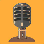 Retro microphone icon — Stock Vector