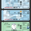Stock Vector: Boarding pass (airplane ticket), flat illustration