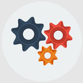 Vector cogs (gears)flat icon — Stock Vector