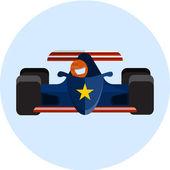 Racing car , flat illustration — Stock Vector