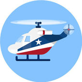 Rescue Helicopter , flat illustration — Vetorial Stock
