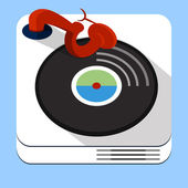 Turntable musical icon — Stock Vector
