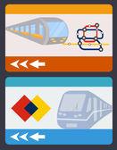 Plochá ilustrace cestovní karta — Stock vektor