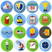 Flat icons for web and applications — Stock Vector