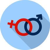 Vector male female symbol — Stockvektor