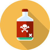 Glass Bottle of Poison — Stock Vector