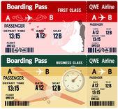 авиакомпания посадочного талона билеты — Cтоковый вектор