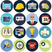 Planos iconos para web y aplicación — Vector de stock