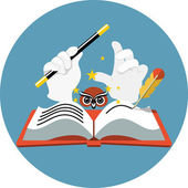 Vector Story Book — Stock Vector