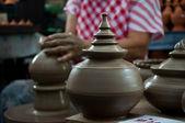 Pottery handicraft in thailand — Stock Photo