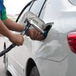 Refill CNG gas at fuel station — Stock Photo