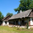 Ethno house in village in Serbia — Stock Photo