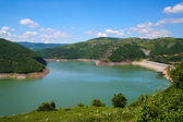 Beautiful gorge in Serbia with river meandering through mountains — Stock Photo